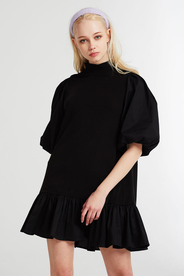Eleanor Balloon Sleeve Ruffled Dress