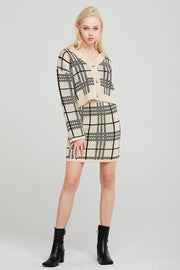 Aria Plaid Knit 2-Piece Set