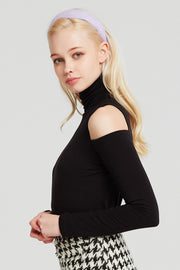 Giselle Cutout Shoulder Turtleneck Top