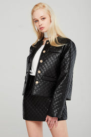 Aurora Quilted Pleather Jacket