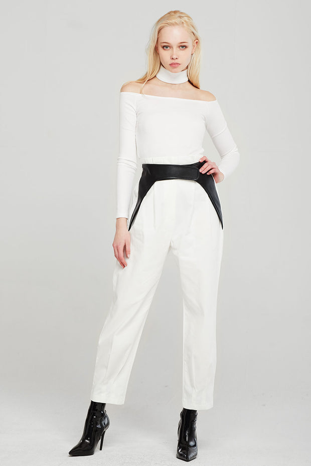 Norah Pintuck Pants w/Belt Overlay
