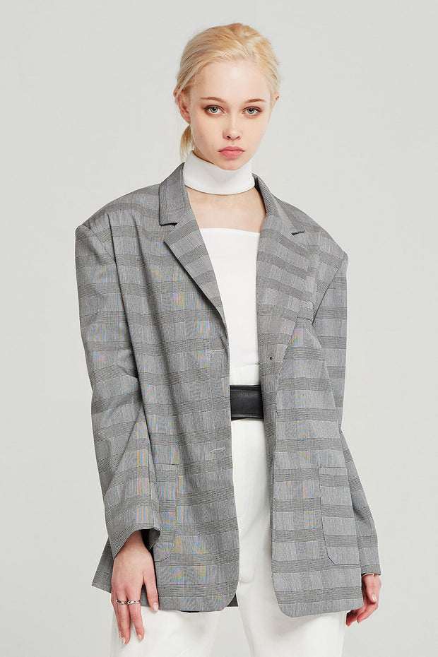 storets.com Audrey Oversized Plaid Jacket