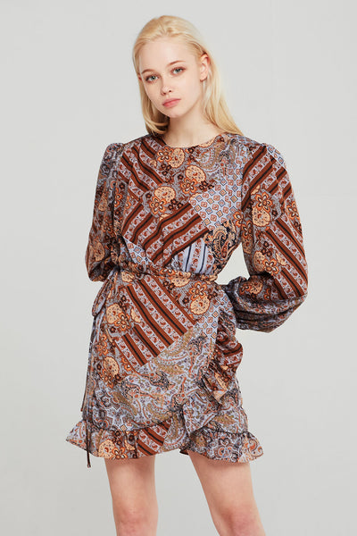 Victoria Patchwork Printed Dress
