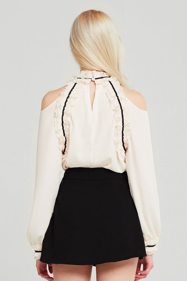 Hadley Cold Shoulder Frilled Blouse