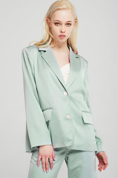 Emerson Satin Oversized Jacket