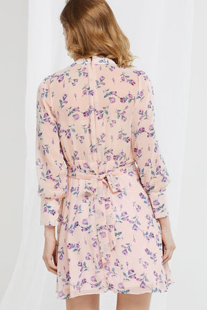 Allison Sheer Floral Mini Dress (Pre-Order)