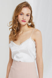 Jina Lace Trim Slip Top