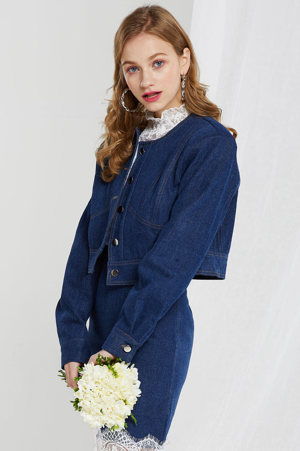 storets.com Cristie Cropped Denim Jacket