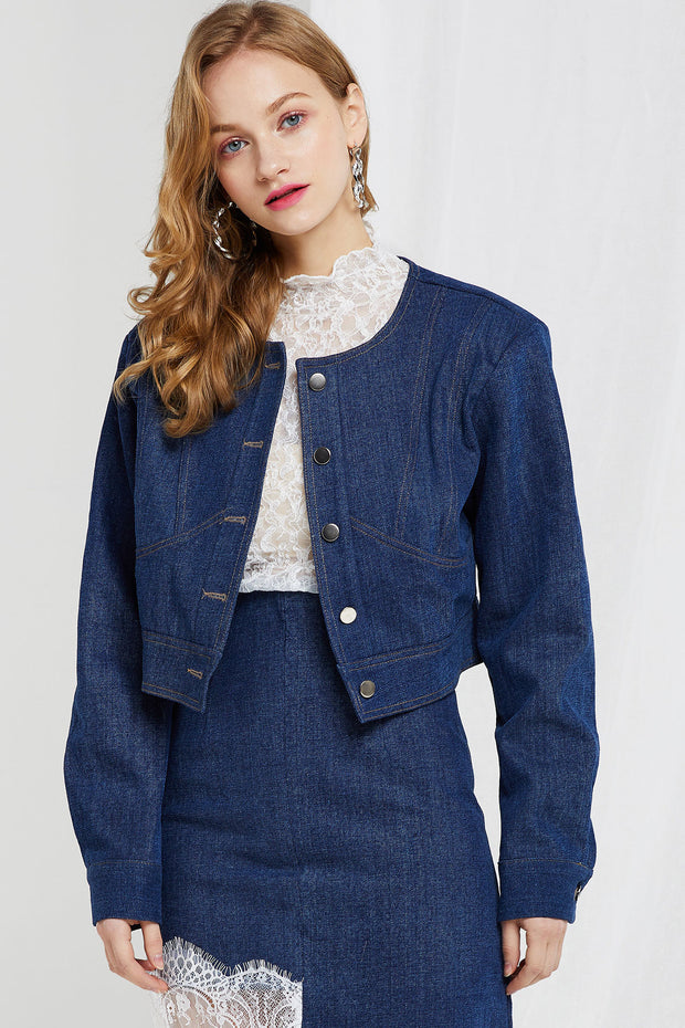 Cristie Cropped Denim Jacket