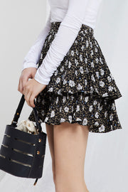 Aria Floral Tiered Skirt