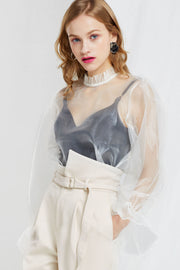 Penia Organza Blouse-2 Colors