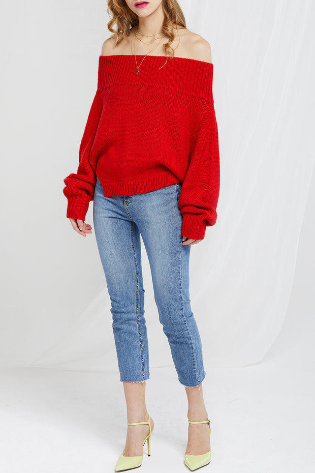 Harriet Off Shoulder Jumper