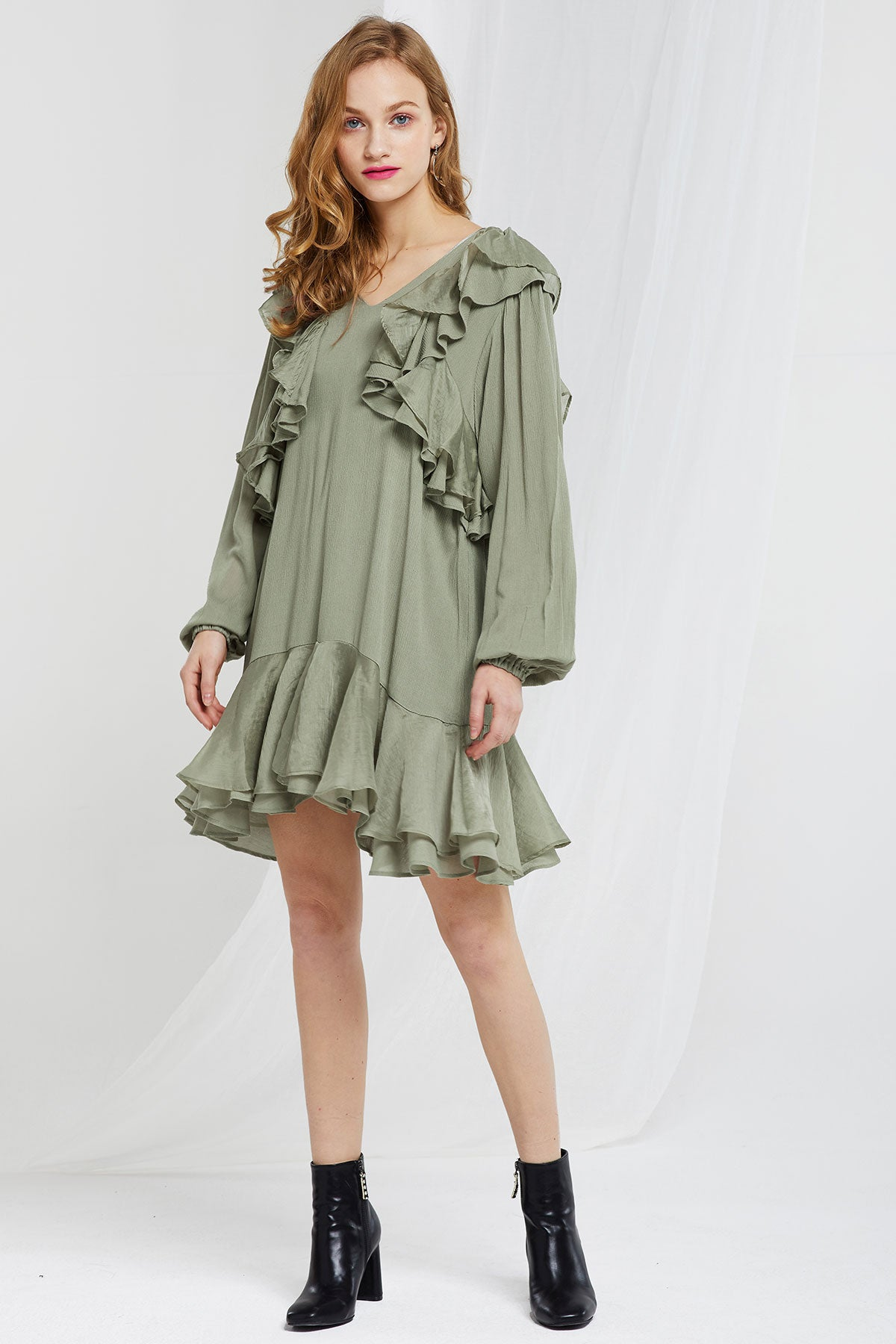 Victoria Tiered Ruffle Dress