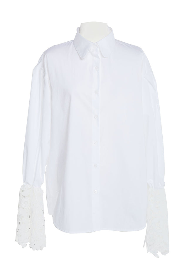 Maroa Lace Cuffs Shirt-2 Colors