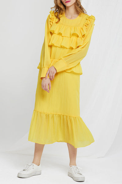 Reina Ruffle Maxi Dress