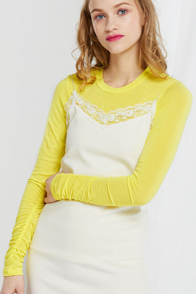 Noa Shirring Sleeves Top-3 Colors