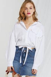 Kennedy Asymmetric Denim Skirt