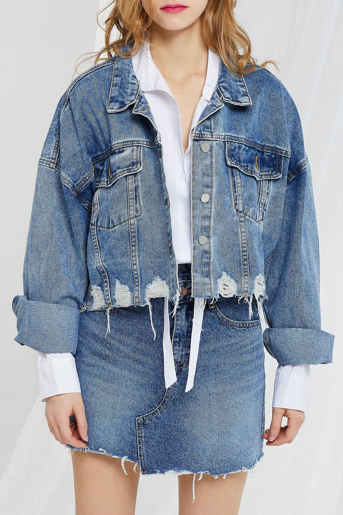 Judy Distressed Denim Jacket