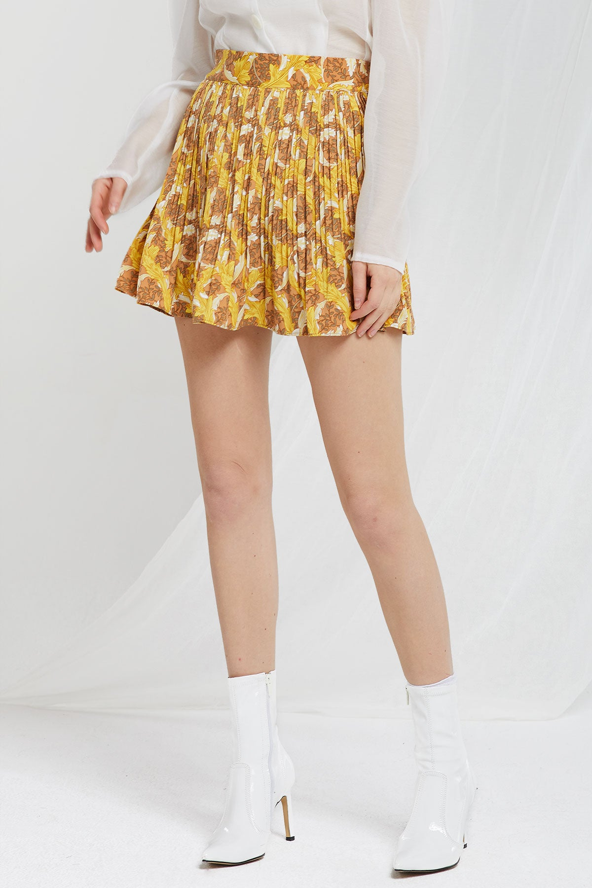 Harper Pleated Flare Mini Skort