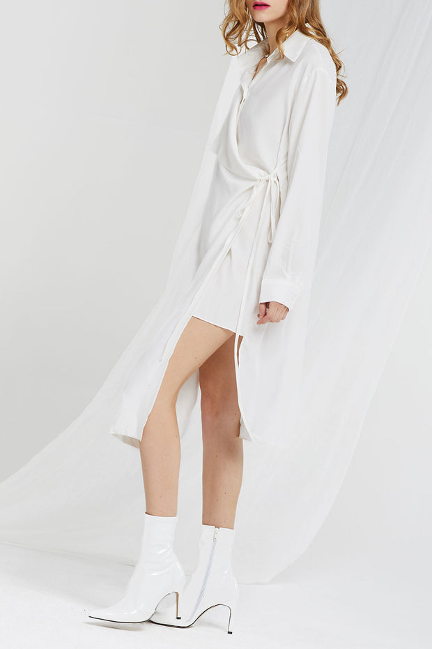 Hera Wrap Layered Shirt Dress