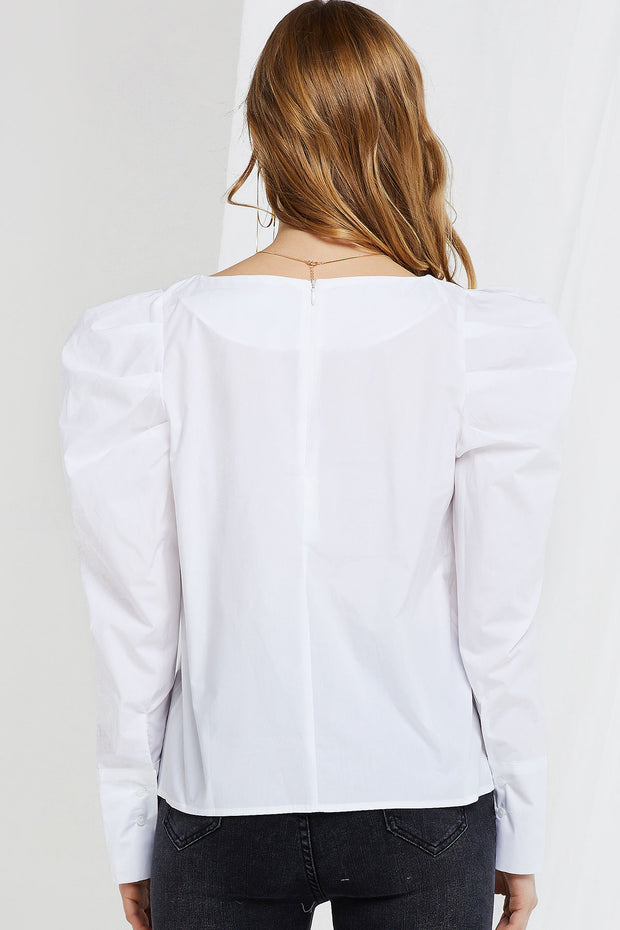 storets.com Laurensia Puffed Sleeves Blouse