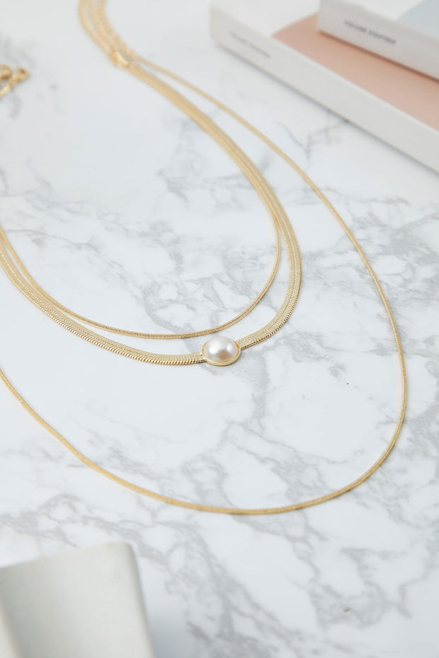 Edna Layerd Pearl Necklace