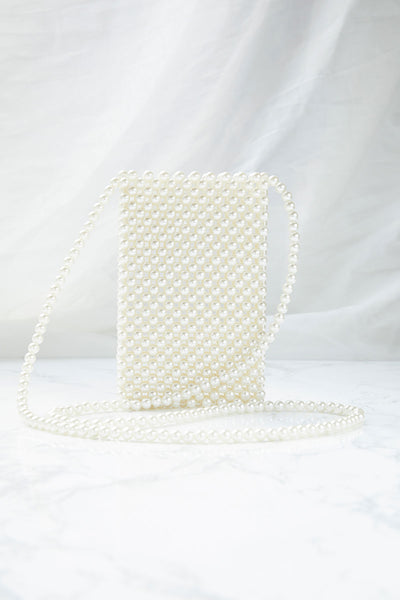 Pearl Beaded Phone Case Bag