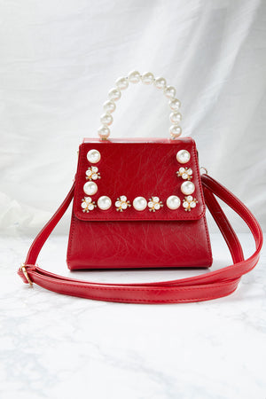 Pearl Handle Tote Bag
