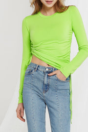 Emmanulle Side Ruched Top-2 Colors