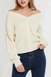 Meri V-Neck Two Way Cardigan-2 Colors