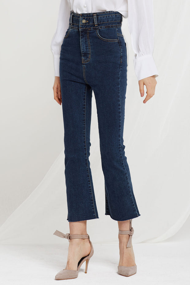 Agnes High Waist Boot Cut Jeans