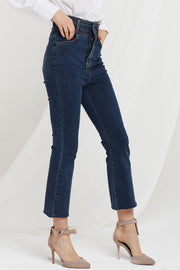 Agnes High Waist Boot Cut Jeans-2 Colors