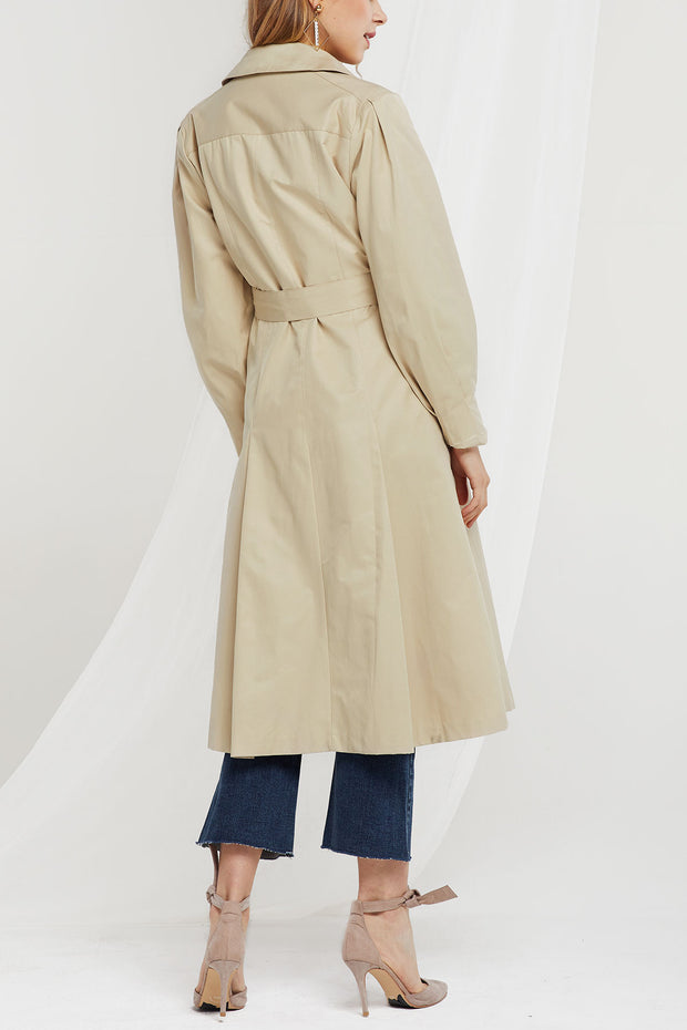 Cami Pleated Trench Coat