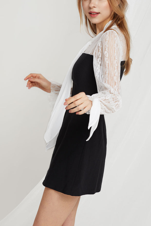 Isobel Dress w/ Lace Top