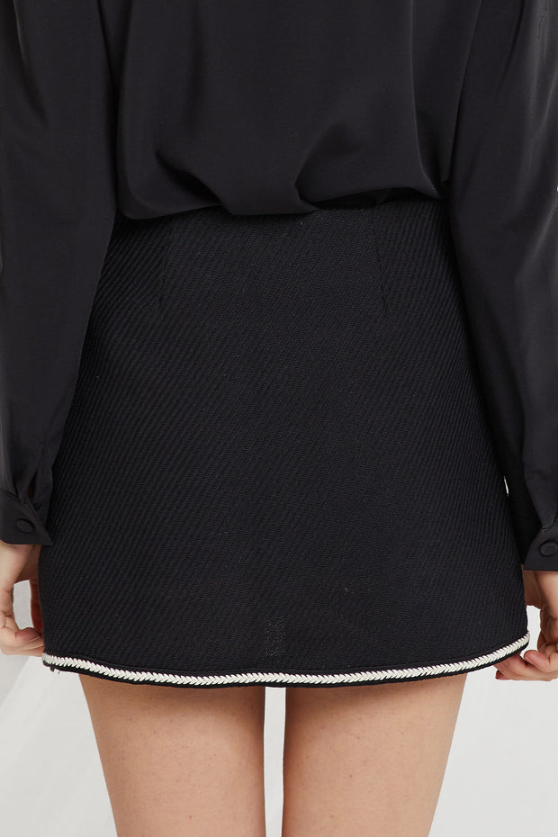 storets.com Carol Trim Mini Skirt-2 Colors