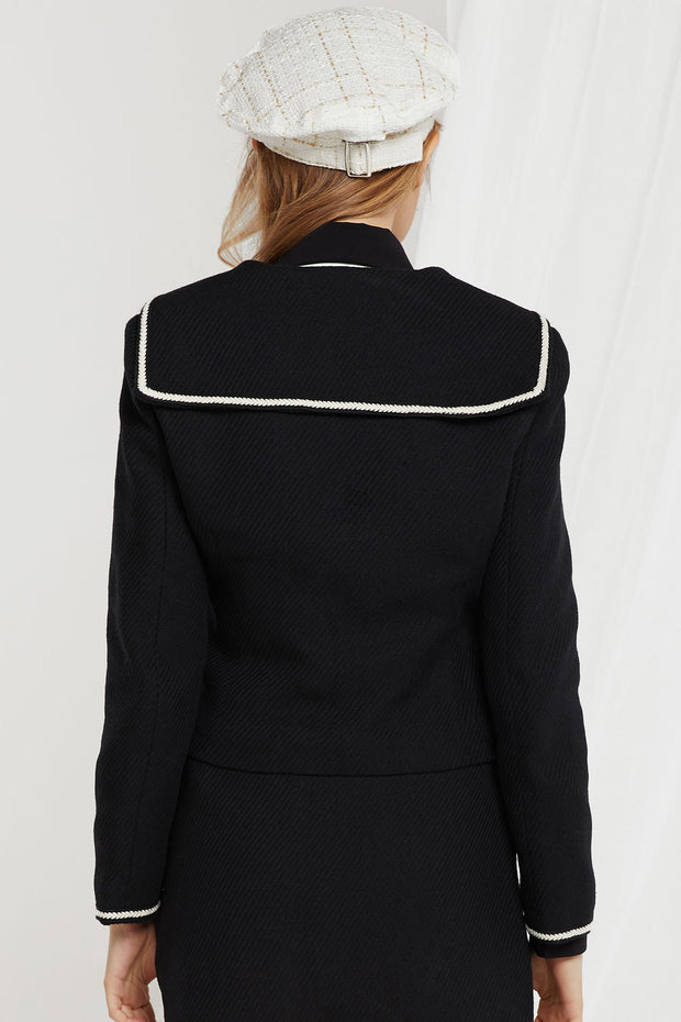 Carol Sailor Collared Zip Up Jacket
