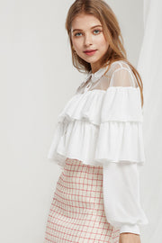 Gia Tiered Ruffle Blouse