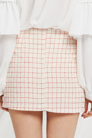 Nicki Grid Tweed Skirt