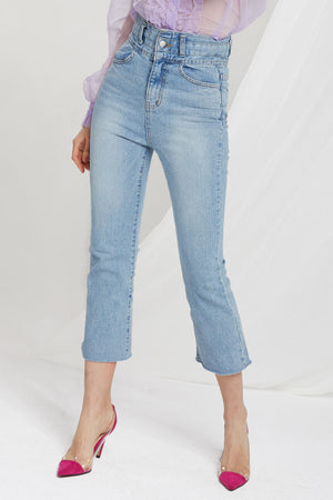 Agnes High Waist Boot Cut Jeans-2 Colors (Pre-Order)