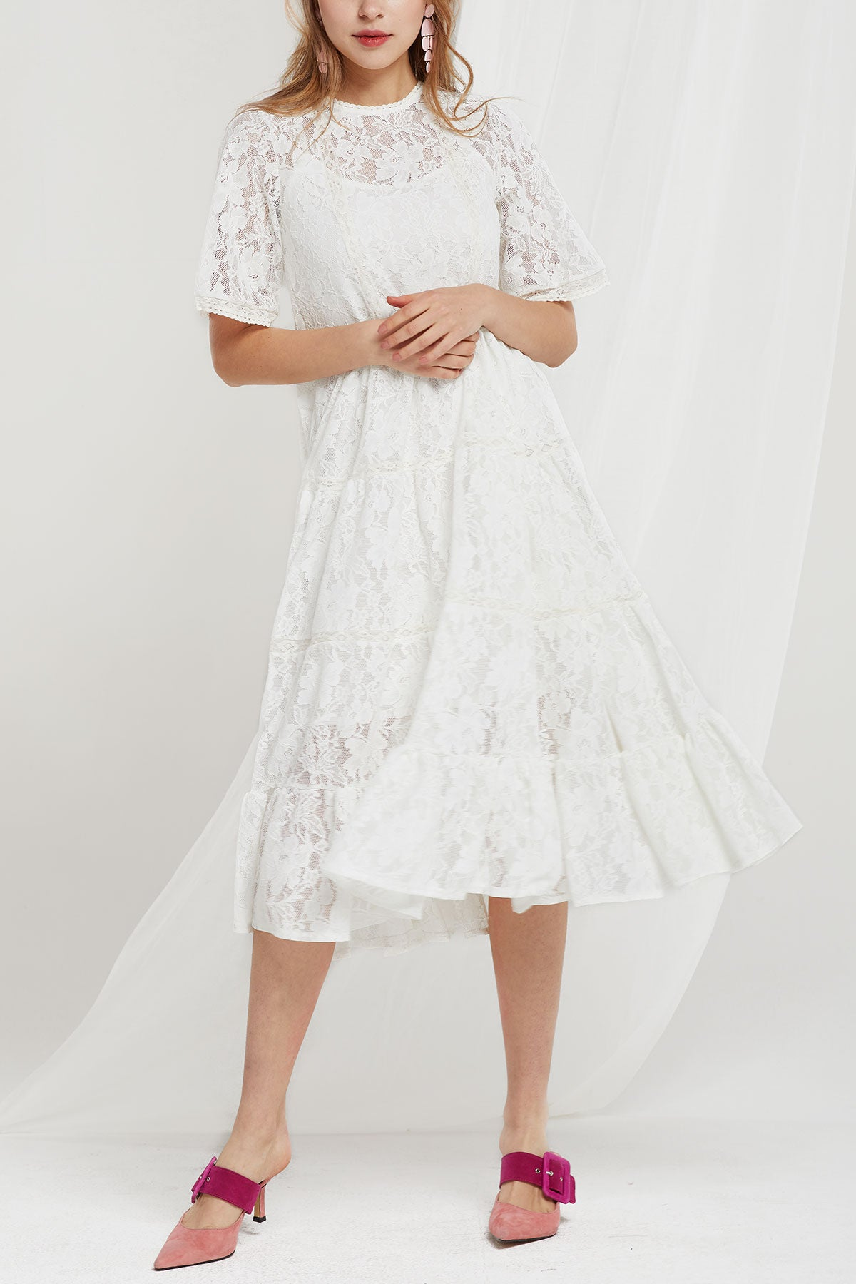 Juno Lace Trapeze Dress (Pre-Order)