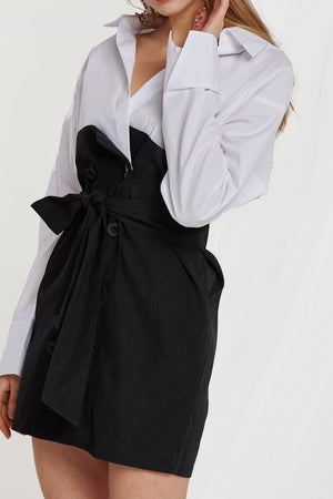 Anastasia Shirt Dress w/ Sash Belt