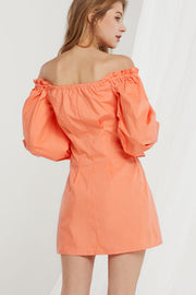 Marta Off Shoulder Puff Sleeves Dress-2 Colors