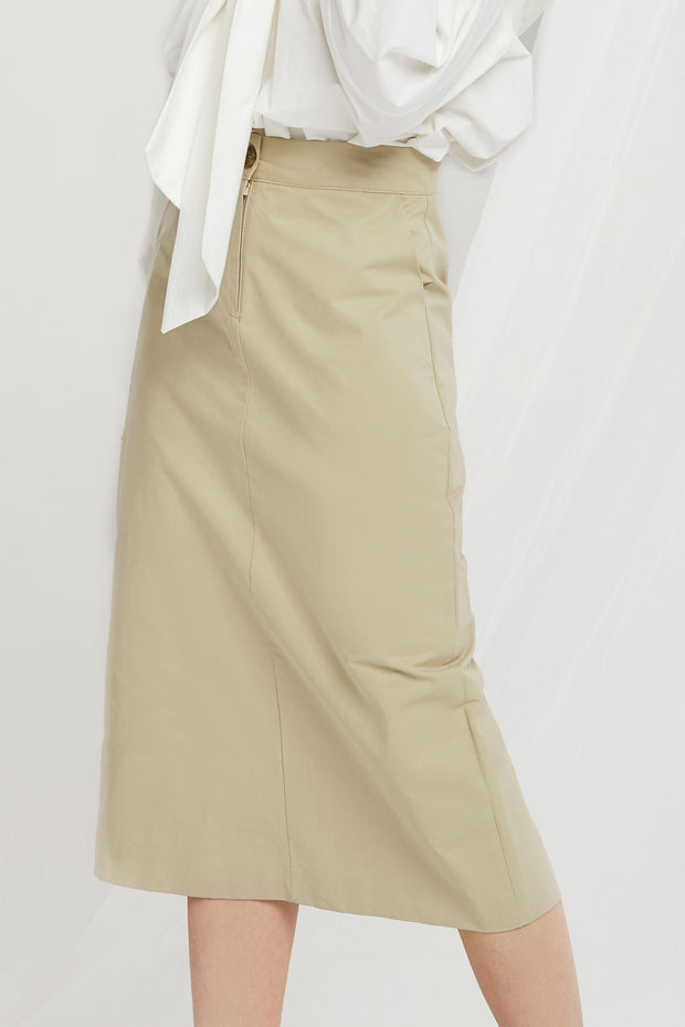 Nelly H-line Midi Skirt