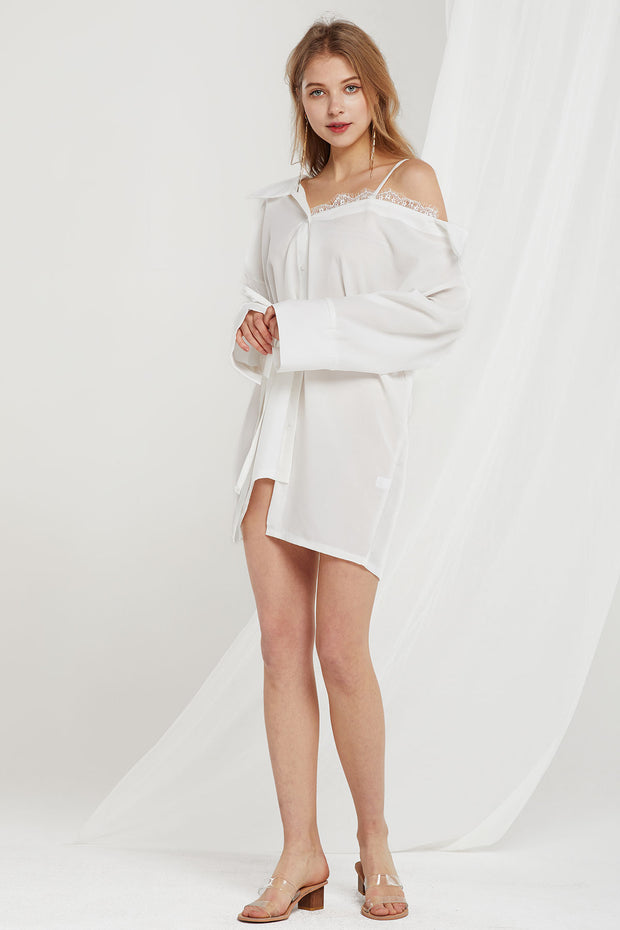 storets.com Vera Asymmetric Shirt Dress-2 Colors