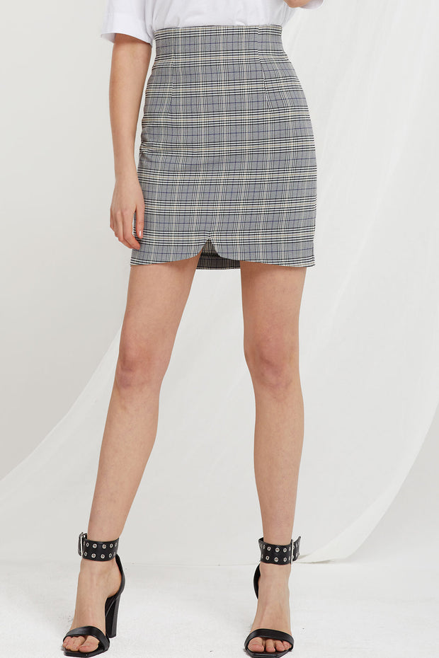 storets.com Kyra Plaid Skirt