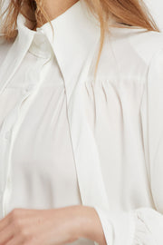 Francesca Tie Collar Blouse