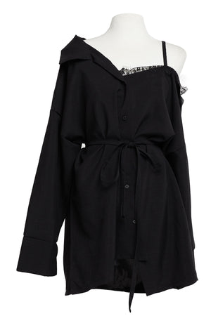 Vera Asymmetric Shirt Dress-2 Colors (Pre-Order)