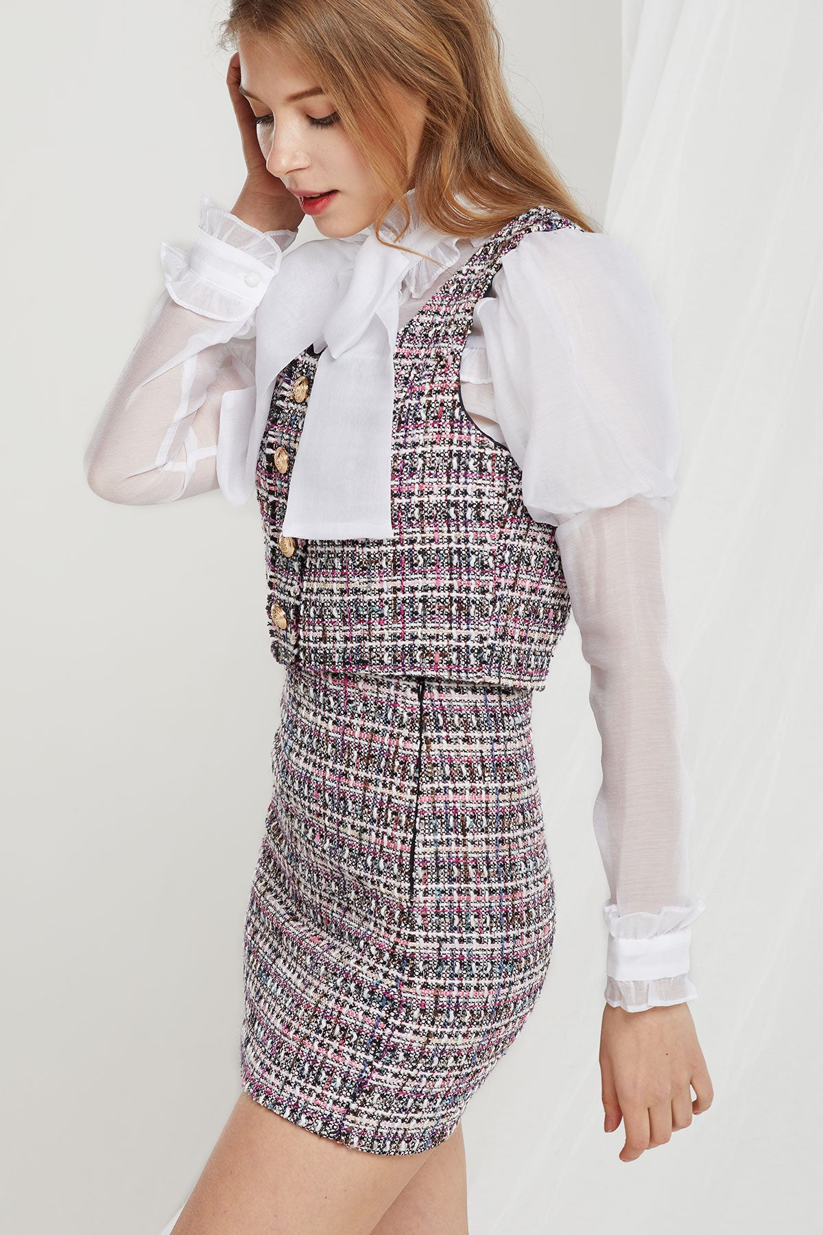 Whitney Tweed Vest and Skirt Set