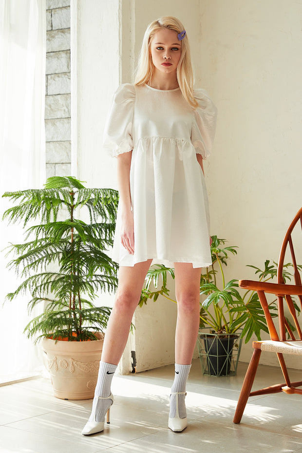 Abigail Puff Sleeve Babydoll Dress