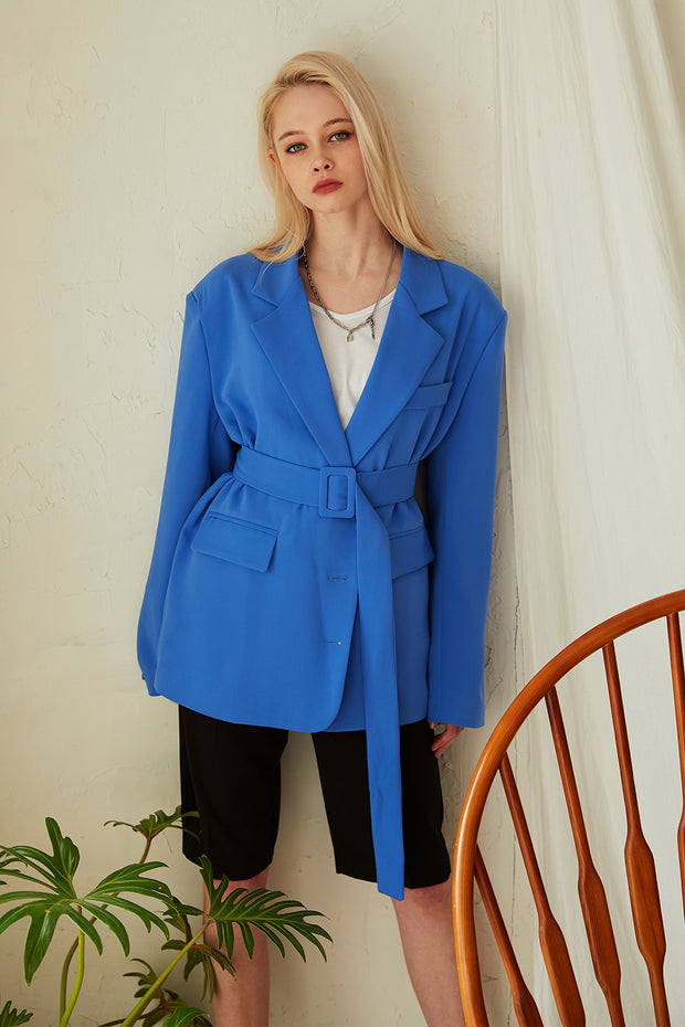 Charlie Oversized Fit Blazer w/Belt